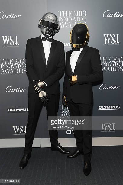 Daft Punk attends the WSJ Magazine's 'Innovator Of The Year' Awards 2013 at The Museum of Modern Art on November 6 2013 in New York City