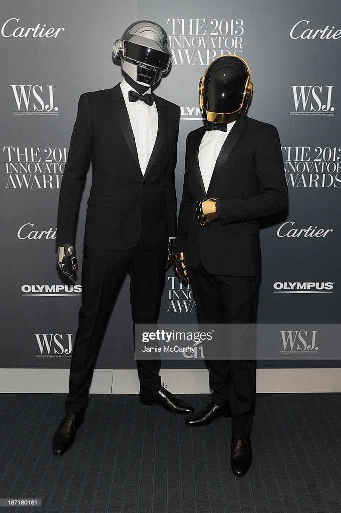 <a gi-track='captionPersonalityLinkClicked' href=/galleries/search?phrase=Daft+Punk&family=editorial&specificpeople=660593 ng-click='$event.stopPropagation()'>Daft Punk</a> attends the WSJ. Magazine's 'Innovator Of The Year' Awards 2013 at The Museum of Modern Art on November 6, 2013 in New York City.
