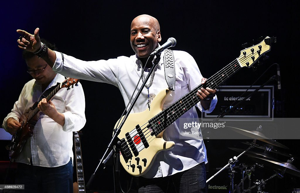Daft Punk bass player Nathan East performs on stage during Nathan East Solo Debut Concert at Billboard Live on November 13, 2014 in Tokyo, Japan.
