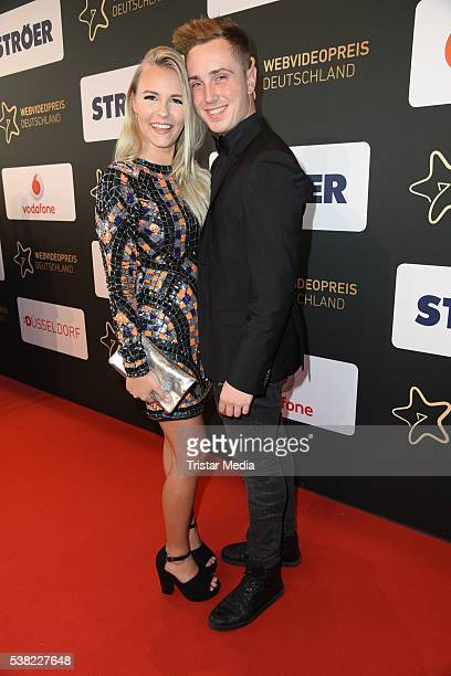 Dagi Bee and her boyfriend Eugen Kazakov attend the Webvideopreis Deutschland 2016 red carpet arrival at Castello on June 4 2016 in Duesseldorf...