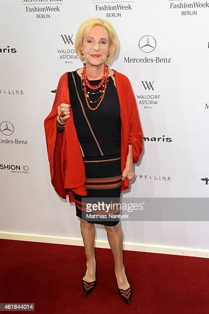 Dagmar Berghoff attends the Riani show during the MercedesBenz Fashion Week Berlin Autumn/Winter 2015/16 at Brandenburg Gate on January 20 2015 in...