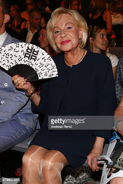 Dagmar Berghoff attends the Riani show during the MercedesBenz Fashion Week Berlin Spring/Summer 2016 at Brandenburg Gate on July 7 2015 in Berlin...