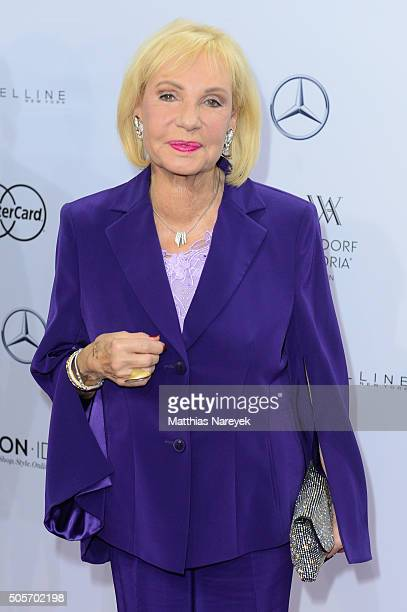 Dagmar Berghoff attends the Riani show during the MercedesBenz Fashion Week Berlin Autumn/Winter 2016 at Brandenburg Gate on January 19 2016 in...