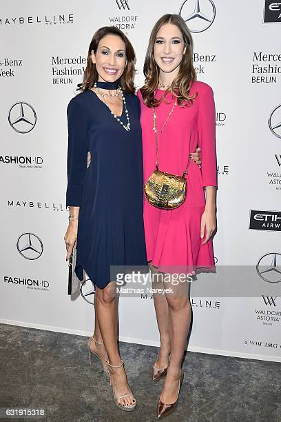 Dagmar Koegel and Alana Siegel attend the Riani show during the MercedesBenz Fashion Week Berlin A/W 2017 at Kaufhaus Jandorf on January 17 2017 in...