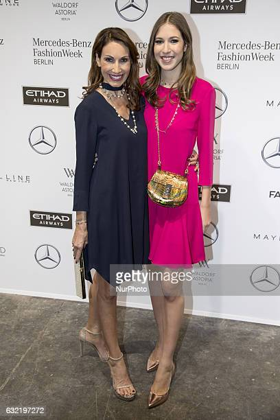 Dagmar Koegel and Alana Siegel attend the Riani show during the MercedesBenz Fashion Week Berlin A/W 2017 at Kaufhaus Jandorf in Berlin Germany on...