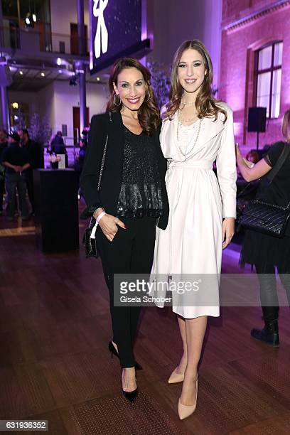 Dagmar Koegel and her daughter Alana Siegel during the Marc Cain fashion show fall/winter 2017 'Ballet magnifique' at 'Telekom Representation' on...