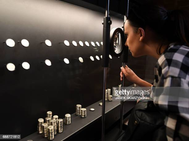 Dagmara Mazurek a press officer at the Museum of Warsaw which reopens after four years of renovation and redesign on May 26 looks at collection of...
