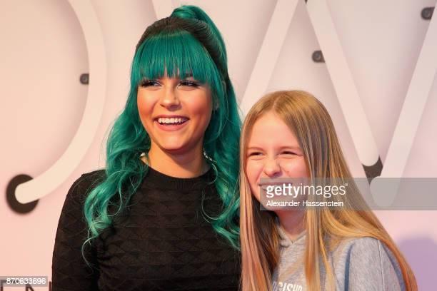 Dagmara Nicole Ochmanczyk alias Dagi Bee attends with her sister Lena Ochmanczyk the GLOW The Beauty Convention at Station on November 4 2017 in...