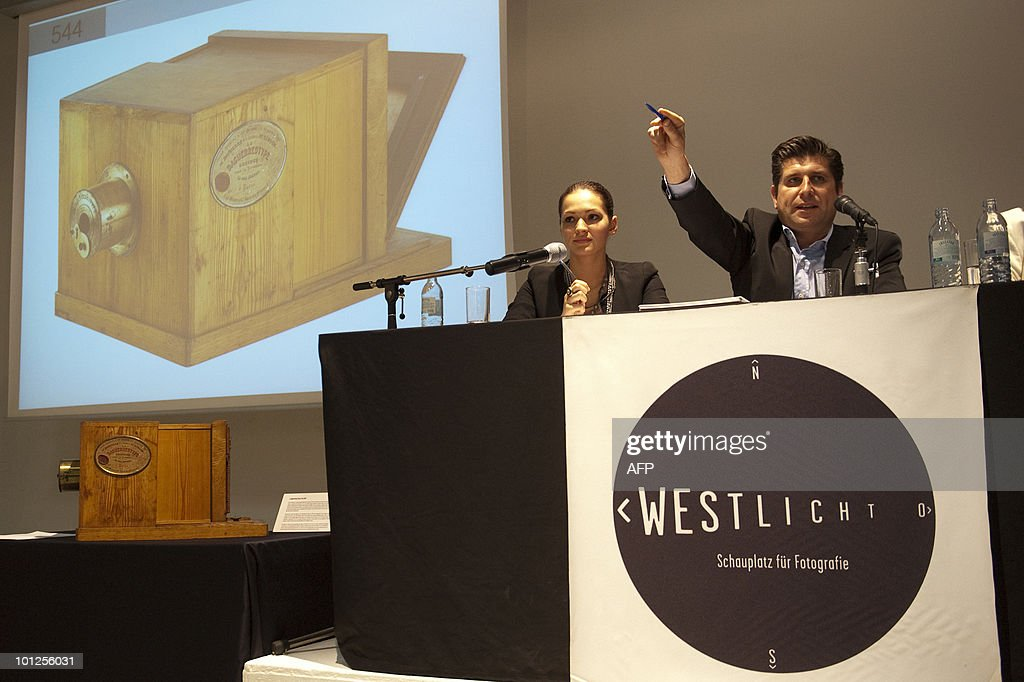 A Daguerreotype Giroux is displayed at the Westlicht museum on May 29, 2010. The camera from 1839 was sold for � 610.000 during the 17th Westlicht Photographica Auction.