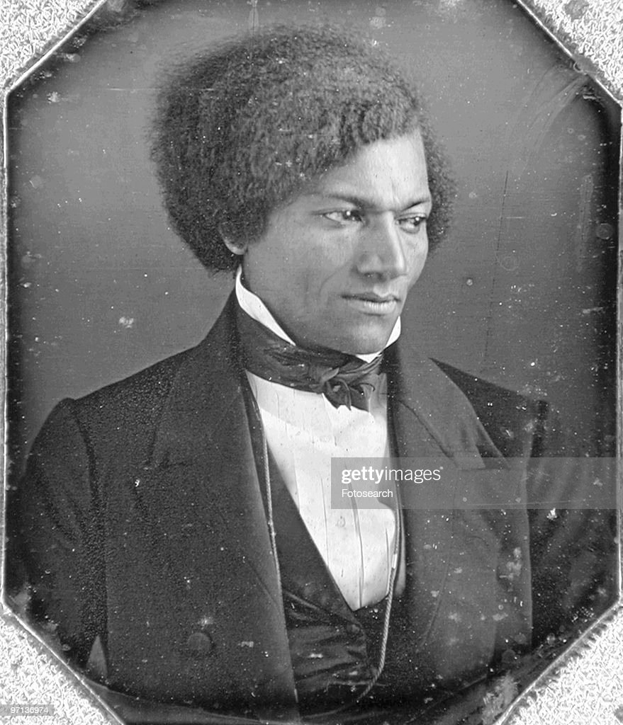 Daguerreotype portrait of ex-slave and American abolitionist <a gi-track='captionPersonalityLinkClicked' href=/galleries/search?phrase=Frederick+Douglass&family=editorial&specificpeople=95956 ng-click='$event.stopPropagation()'>Frederick Douglass</a> (Frederick Augustus Washington Bailey) (1817 - 1895) as a young man, 1848. He became the first black man to be received at the White House, by President Abraham Lincoln.