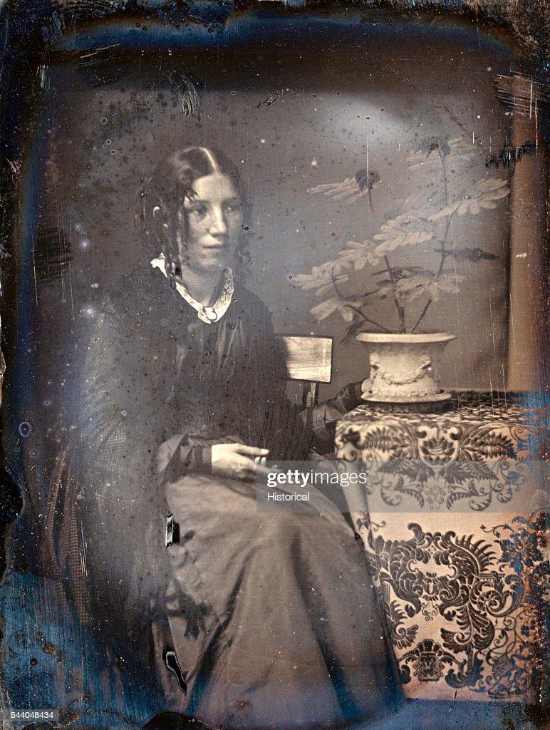 Daguerreotype portrait of Harriet Beecher Stowe c 1850 by Southworth Hawes Metropolitan Museum of Art New York