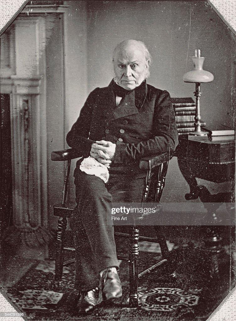 Daguerreotype portrait of John Quincy Adams c late 1840s