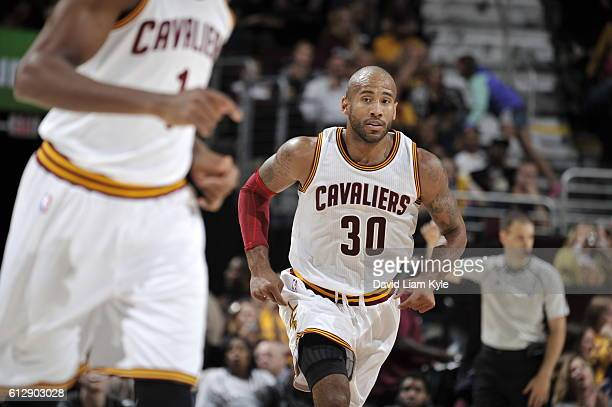 Dahntay Jones of the Cleveland Cavaliers is seen against the Orlando Magic on October 5 2016 at Quicken Loans Arena in Cleveland Ohio NOTE TO USER...