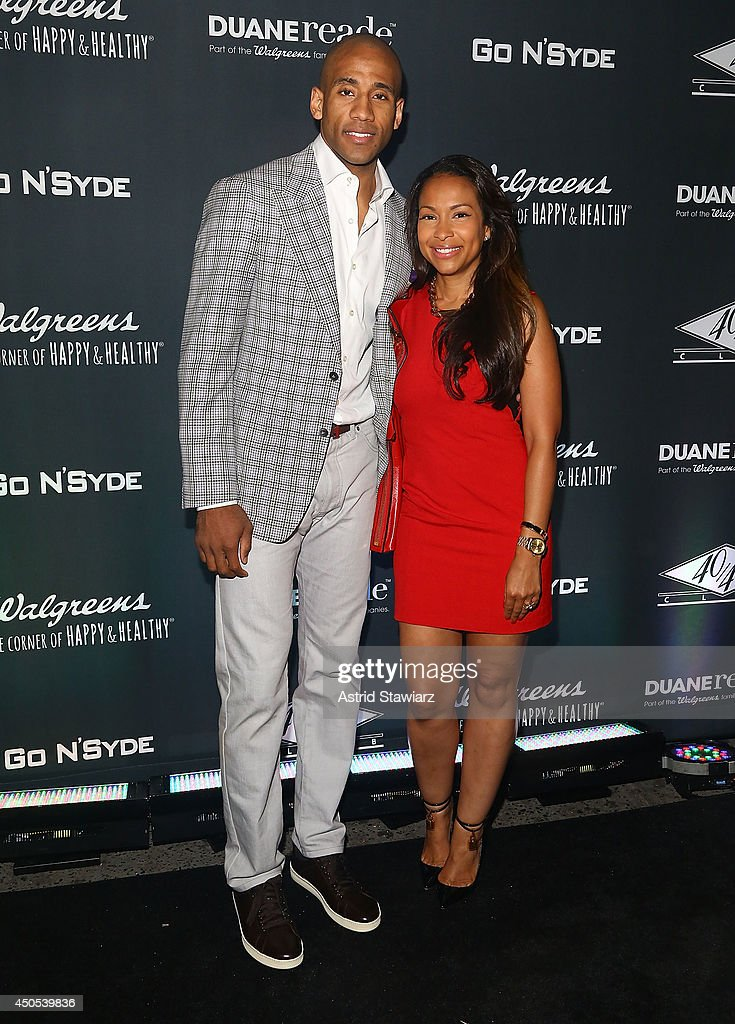 Dahntay Lavall Jones and Valeisha Butterfield attend the Go N'Syde 40/40 Bottle Launch Party at the 40 / 40 Club on June 12, 2014 in New York City.