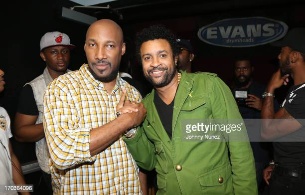Dahved Levy and Shaggy attend BB King Blues Club Grill on June 11 2013 in New York City