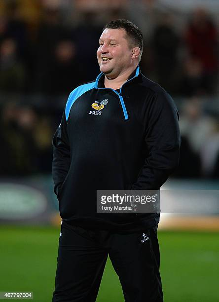 Dai Young Director of Rugby of Wasps during the Aviva Premiership match between Northampton Saints and Wasps at Franklin's Gardens on March 27 2015...