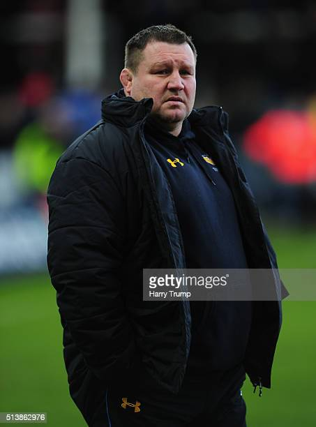 Dai Young Director of Rugby of Wasps during the Aviva Premiership match between Gloucester Rugby and Wasps at Kingsholm Stadium on March 5 2016 in...