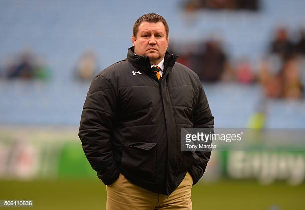 Dai Young Director of Rugby of Wasps during the European Rugby Champions Cup match between Wasps and Leinster Rugby at Ricoh Arena on January 23 2016...