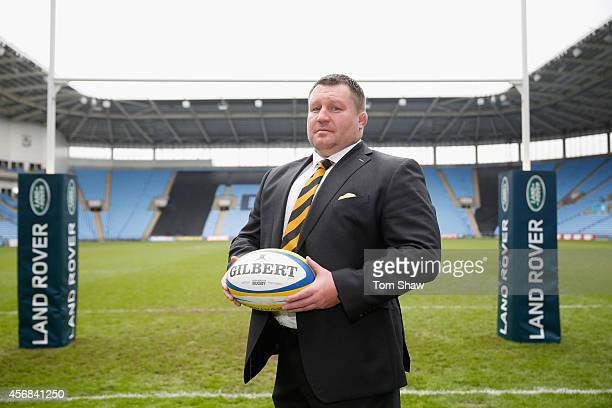 Dai Young of Wasps during the announcement of a new club sponsor Land Rover and a move to the Ricoh Arena in Coventry at the Ricoh Arena on October 8...