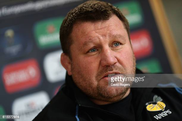 Dai Young the Wasps director of rugby faces the press during the Wasps media session held at Broadstreet RFC on October 18 2016 in Coventry England