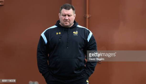 Dai Young the Wasps director of rugby looks on during the Wasps training session at Broadstreet RFC on March 28 2017 in Coventry England