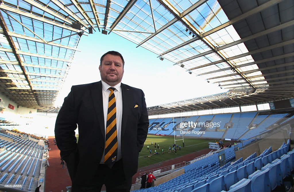 Dai Young the Wasps director of rugby poses after the Wasps training session held at the Ricoh Arena on December 16 2014 in Coventry England