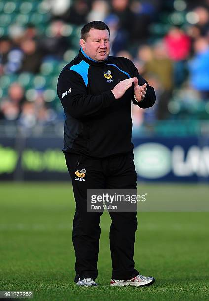 Dai Young Wasps' Director of Rugby looks on prior to the Aviva Premiership match between Bath Rugby and Wasps at The Recreation Ground on January 10...