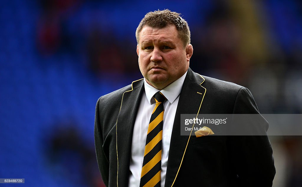 Dai Young Wasps' Director of Rugby looks on prior to the European Rugby Champions Cup Semi Final between Saracens and Wasps at the Madejski Stadium...