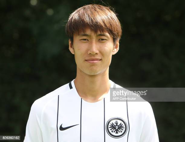 Daichi Kamada from German first division Bundesliga football team Eintracht Frankfurt poses for a photo in Frankfurt Germany on August 4 2017 / AFP...