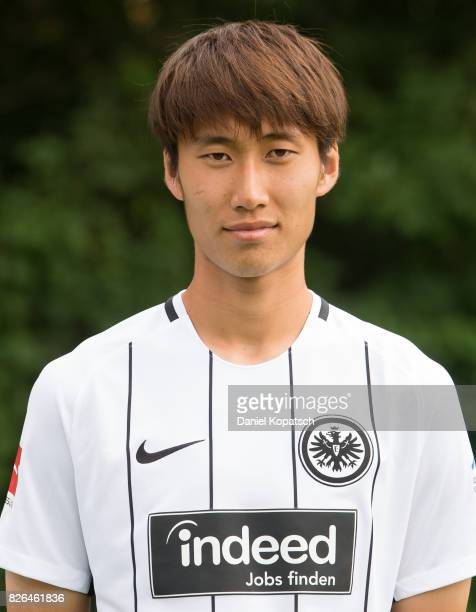 Daichi Kamada of Eintracht Frankfurt poses during the team presentation at on August 4 2017 in Frankfurt am Main Germany