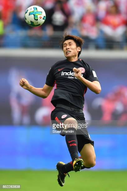 Daichi Kamada of Frankfurt during the Bundesliga match between RB Leipzig and Eintracht Frankfurt at Red Bull Arena on September 23 2017 in Leipzig...