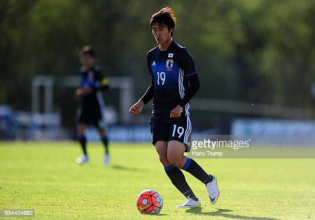 Daichi Kamada of Japan during the Toulon Tournament match between Japan and Portugal at Stade De Lattre on May 23 2016 in Aubagne France
