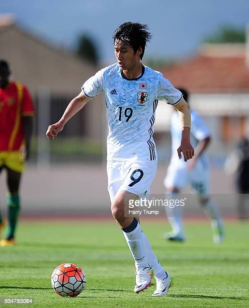 Daichi Kamada of Japan during the Toulon Tournament match between Guinea and Japan at Stade Antoinr Baptiste on May 25 2016 in SixFoursLesPlages...