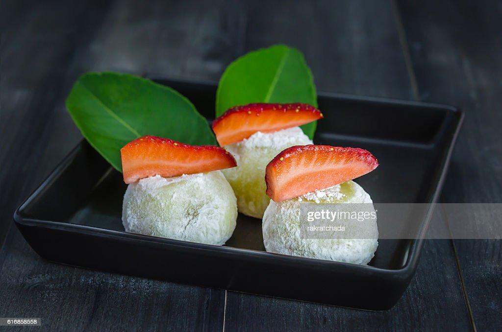 Daifuku Mochi Japanese dessert : Stock Photo