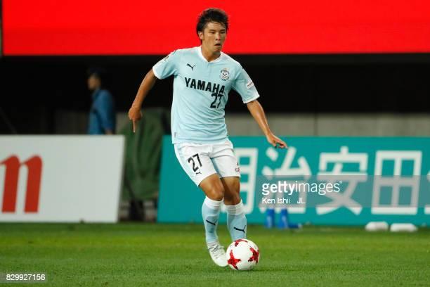 Daigo Araki of Jubilo Iwata in action during the JLeague J1 match between Vegalta Sendai and Jubilo Iwata at Yurtec Stadium Sendai on August 9 2017...