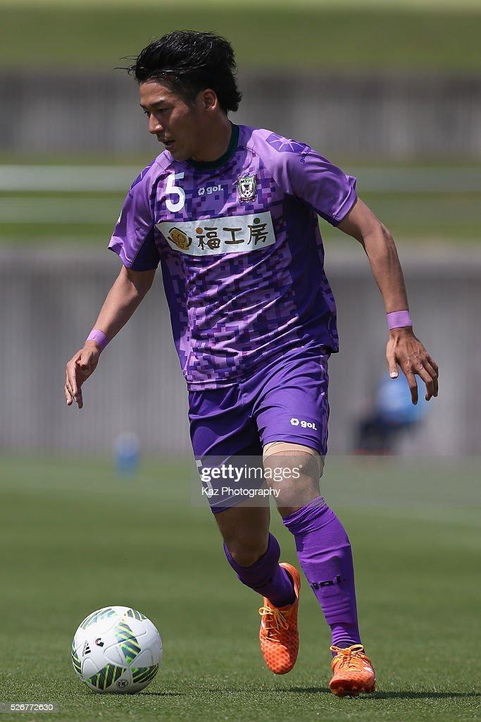 Daiki Asada of Fujieda MYFC in action during the J.League third division match between Fujieda MYFC and Grulla Morioka at the Fujieda Stadium on May 1, 2016 in Fujieda, Shizuoka, Japan.