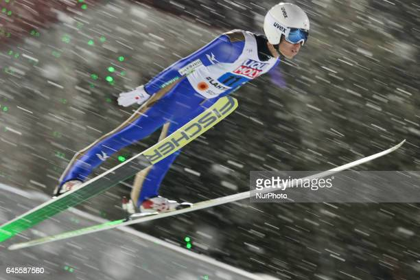 Daiki Ito competes in the Mixed Team HS100 Normal Hill Ski Jumping during the FIS Nordic World Ski Championships on February 26 2017 in Lahti Finland