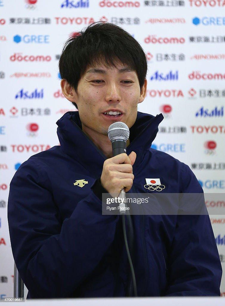 <a gi-track='captionPersonalityLinkClicked' href=/galleries/search?phrase=Daiki+Ito&family=editorial&specificpeople=722800 ng-click='$event.stopPropagation()'>Daiki Ito</a> of Japan attends a Japanese medalist press conference at Japan House on day 11 of the Sochi 2014 Winter Olympics on February 18, 2014 in Sochi, Russia.