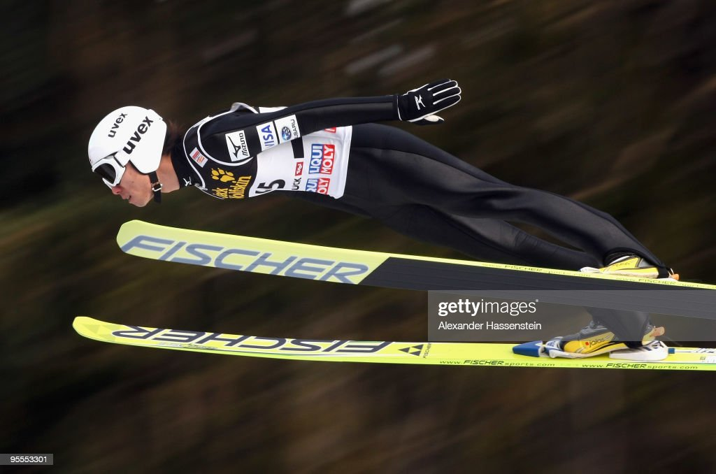 Daiki Ito of Japan competes during final round of the FIS Ski Jumping World Cup event of the 58th Four Hills ski jumping tournament on January 3, 2010 in Innsbruck, Austria.