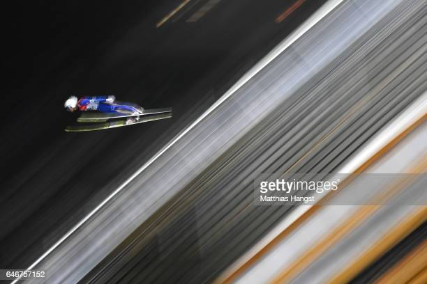 Daiki Ito of Japan competes in the Men's Ski Jumping HS130 qualification round during the FIS Nordic World Ski Championships on March 1 2017 in Lahti...
