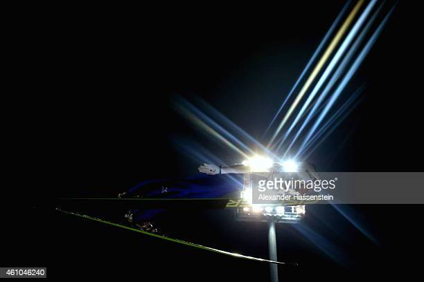 Daiki Ito of Japan competes on day 7 of the Four Hills Tournament Ski Jumping event at PaulAusserleitnerSchanze at SeppBradlStadion on January 5 2015...