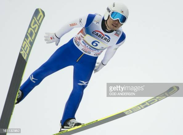 Daiki Ito of Japan jumps during the FIS Ski Jumping World Cup team competition on the Muehlenkopfschanze hill in Willingen western Germany on...