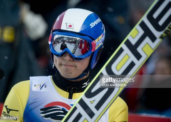 Daiki Ito of Japan reacts after his final jump of the FIS Ski Jumping World Cup team competition on the Muehlenkopfschanze hill in Willingen western...