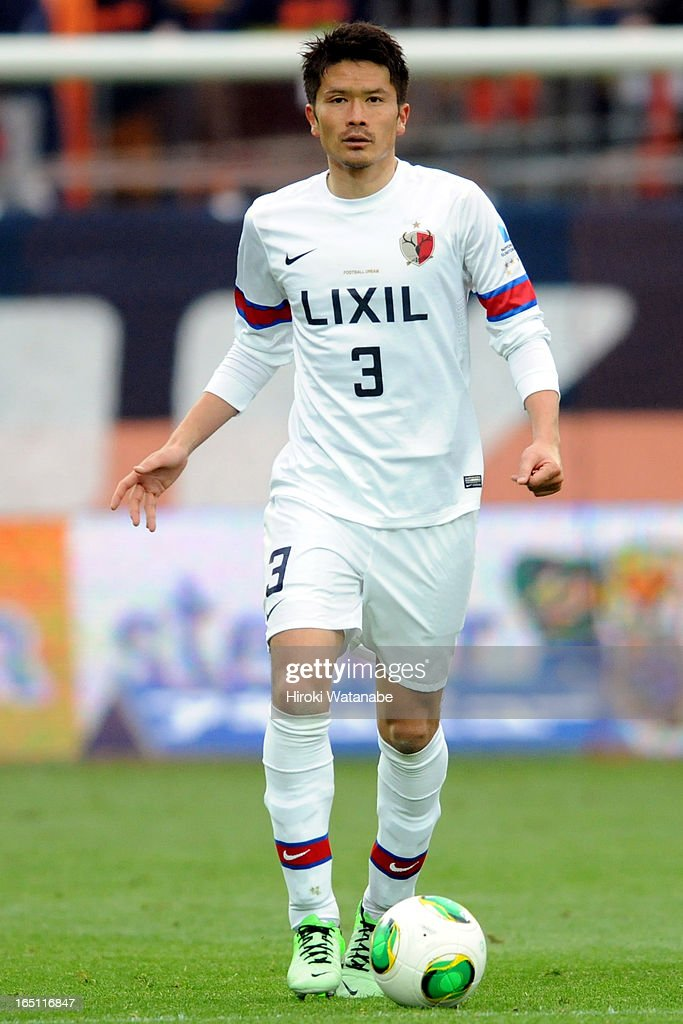 <a gi-track='captionPersonalityLinkClicked' href=/galleries/search?phrase=Daiki+Iwamasa&family=editorial&specificpeople=1295487 ng-click='$event.stopPropagation()'>Daiki Iwamasa</a> of Kashima Antlers in action during the J.League match between Omiya Ardija and Kashiwa Reysol at Nack 5 Stadium Omiya on March 30, 2013 in Saitama, Japan.