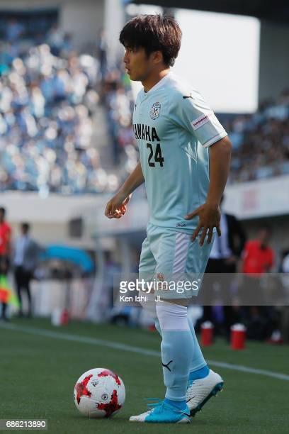 Daiki Ogawa of Jubilo Iwata in action during the JLeague J1 match between Jubilo Iwata and Kashiwa Reysol at Yamaha Stadium on May 20 2017 in Iwata...