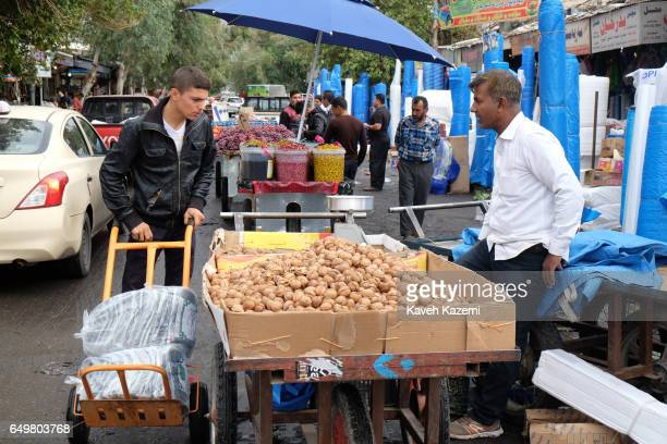 Daily activity in the market near the citadel on November 2 2016 in Erbil Iraq Erbil also spelt Arbil or Irbil is the capital city of Erbil...