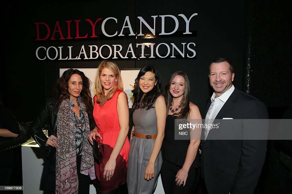 CANDY -- 'Daily Candy Collaborations' at Le Bain in New York City on Wednesday, January 23, 2013 -- Pictured: (l-r) Mara Hoffman, Alison Moore, General Manager, DailyCandy; SuChin Pak, Ashley Parrish, Editor in Chief, Daily Candy; Nick Lehman, President, Digital Media, Entertainment & Digital Networks, NBCUniversal --