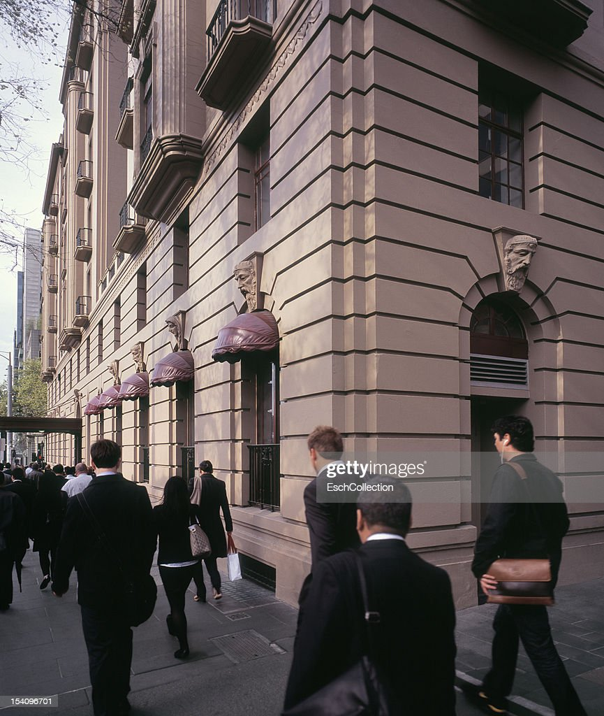 Daily commute at CBD in Melbourne, Australia : Stock Photo