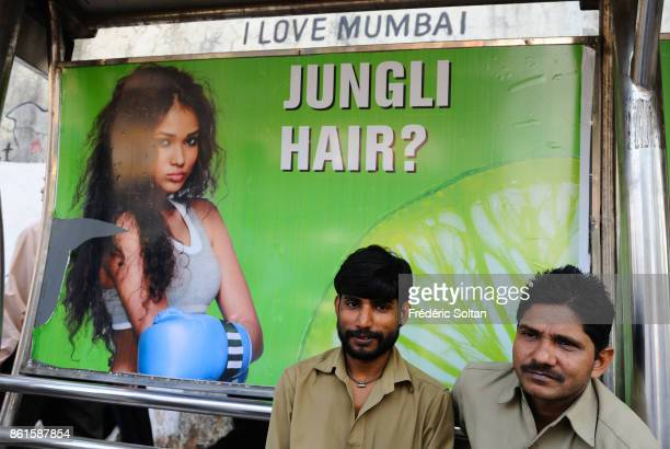 Daily life and bus station in Mumbai on March 15 2014 in Mumbai India