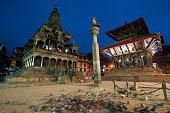 Daily life in Patan Durbar Square on November 11 2014 in Kathmandu Nepal